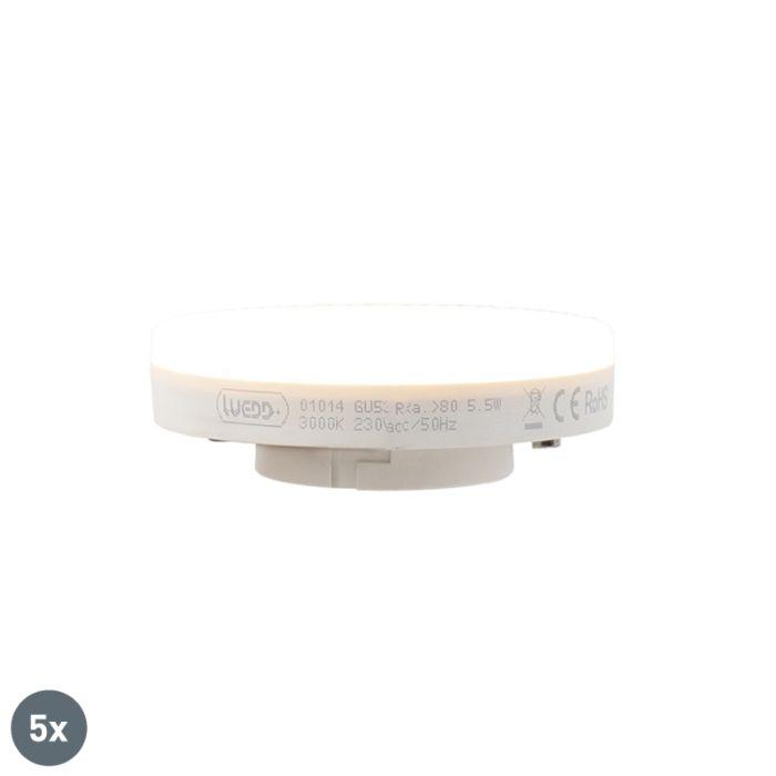 5er-Set-GX53-LED-Lampe-5,5W-470-Lumen-3000K