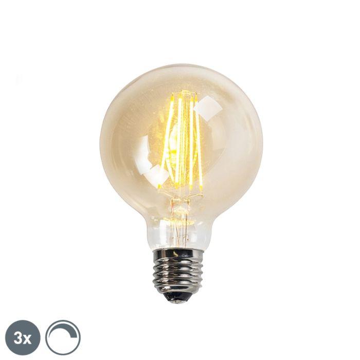 3er-Set-E27-dimmbare-LED-Lampen-goldline-G95-5W-450LM-2200K