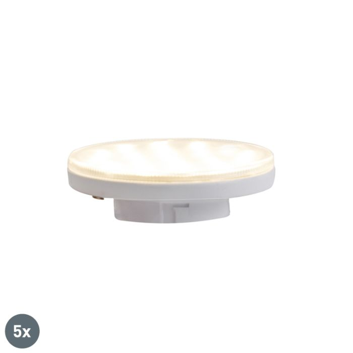 Set-mit-5-3-stufigen-dimmbaren-LED-Lampen-GX53-3W-350-lm-3000K