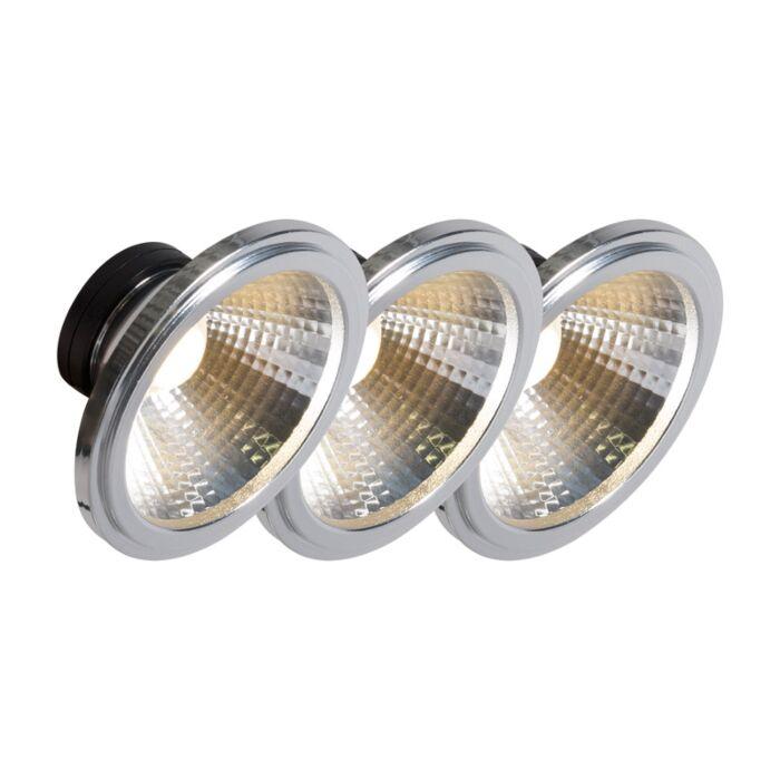 3er-Set-LED-Leuchtmittel-AR111-COB-7W-24°-warmweiß