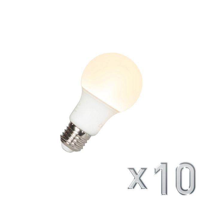 10er-Set-LED-Leuchtmittel-E27-9W/-810L-3000K-warmweiß