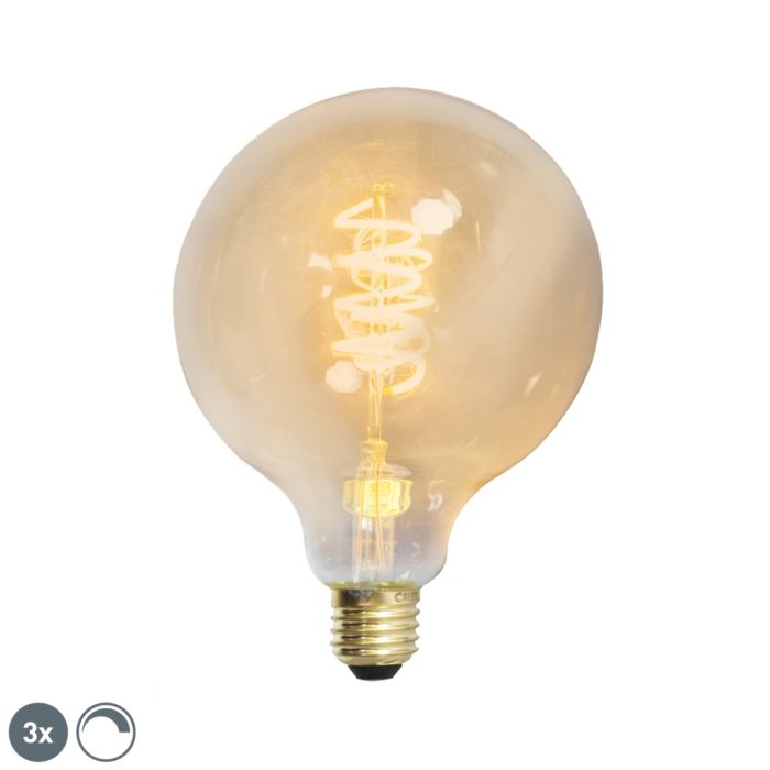 3er-Set-E27-dimmbare-LED-Lampe-G125-goldline