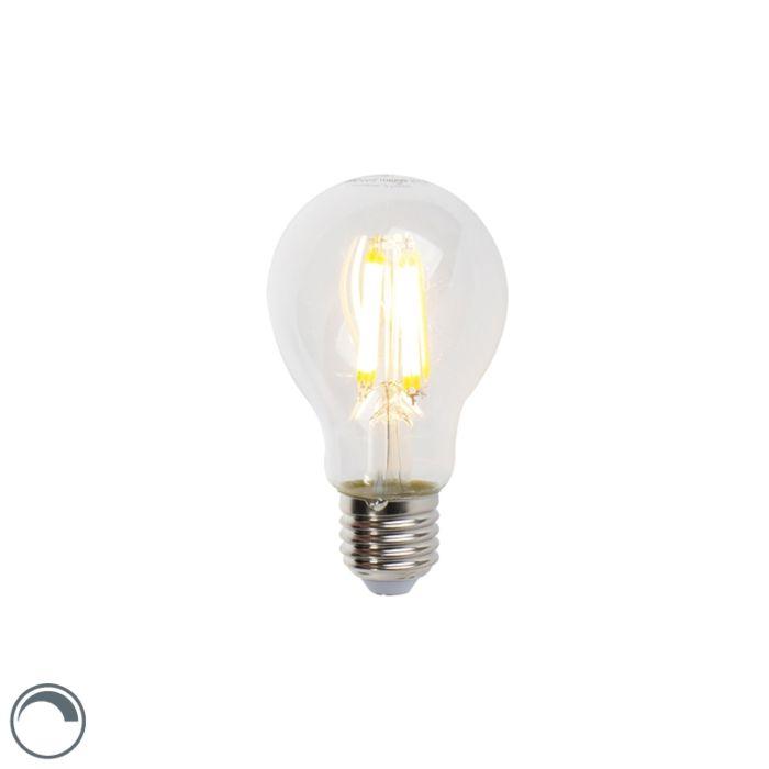 LED-Lampe-E27-7W-806lm-A60-klar-dimmbar