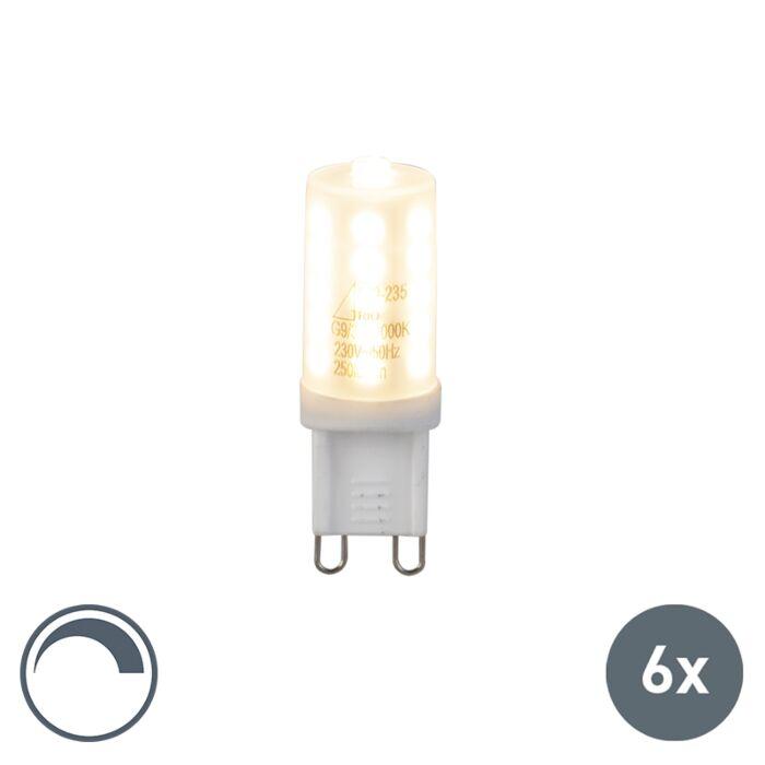 6er-Set-G9-LED-Leuchte-3W-250Lm-dimmbar