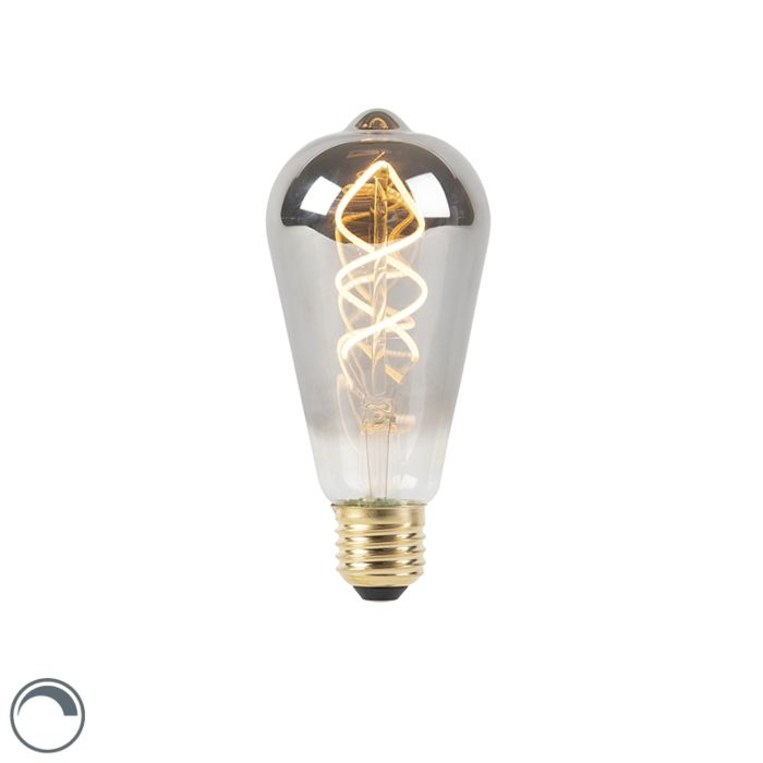 E27-dimmbare-LED-Twisted-Glühlampe-Rauch-100-lm-2100K