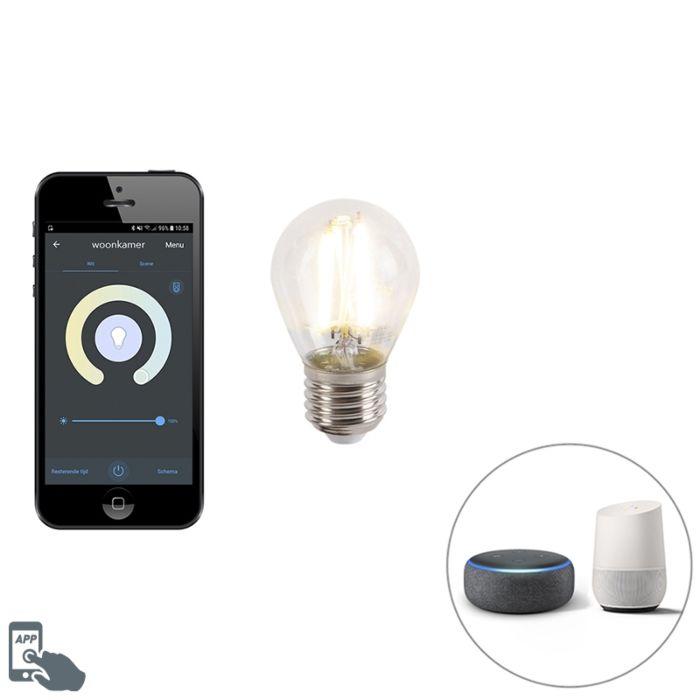 Smart-E27-dimmbare-LED-Lampe-mit-ca.-450-lm-1800-3000K