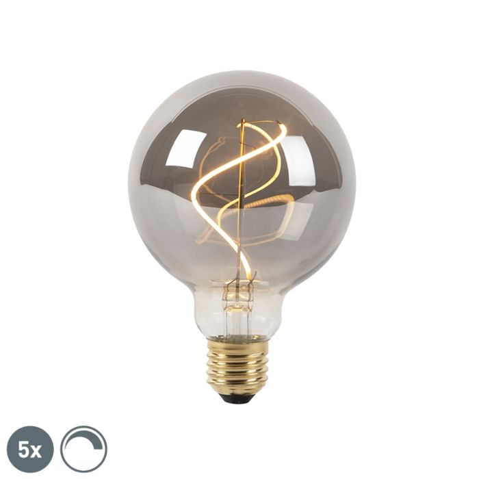 5er-Set-D27-dimmbare-LED-Glühlampen-rauchen-G95-2100K