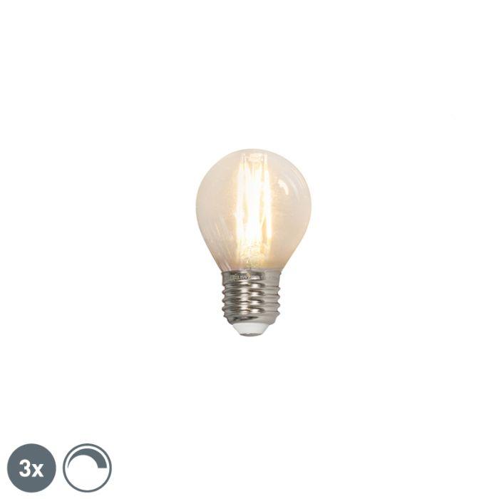 3er-Set-LED-Filament-Lampe-E27-240V-3,5W-350lm-P45-dimmbar