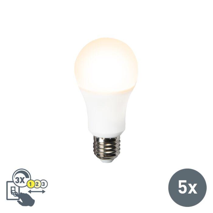 5er-Set-LED-Leuchte-A60-12W-E27-3in1