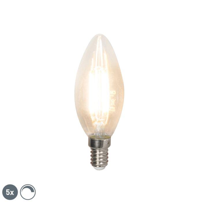 Set-mit-5-dimmbaren-LED-Leuchten-E14-350-lm-2700K