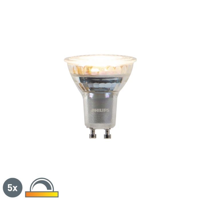 5er-Set-GU10-zum-Erwärmen-von-Philips-LED-Lampen-3,7-W-260-lm