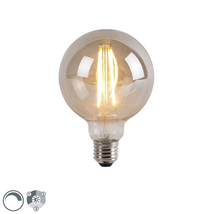 E27-3-stufige-dimmbare-LED-Lampe-G95-Rauchglas-5W-450-lm-2200K