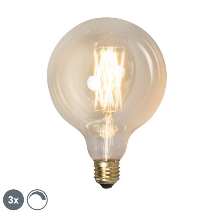 3er-Set-E27-dimmbare-LED-Lampen-G125-goldline-320lm-2100-K
