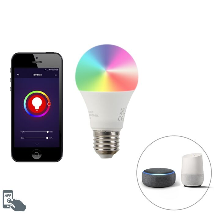 Smart-E27-dimmbare-LED-Lampe-A60-9W-700-lm-2200-4000K