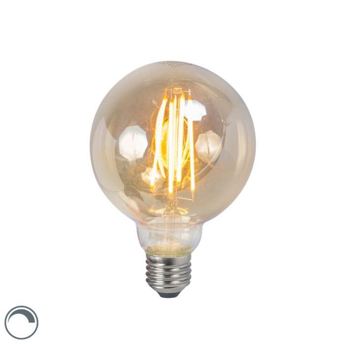 LED-Lampe-E27-5W-2200K-G95-rauchglas-dimmbar