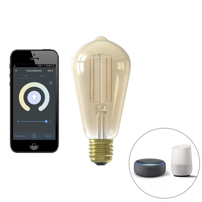 Smart-E27-dimmbare-LED-Glühlampe-ST64-7W-806-lm-1800-3000K