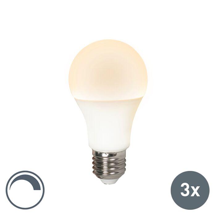 3er-Set-LED-Leuchtmittel-E27-240V-10W-/-810lm-dimmbar