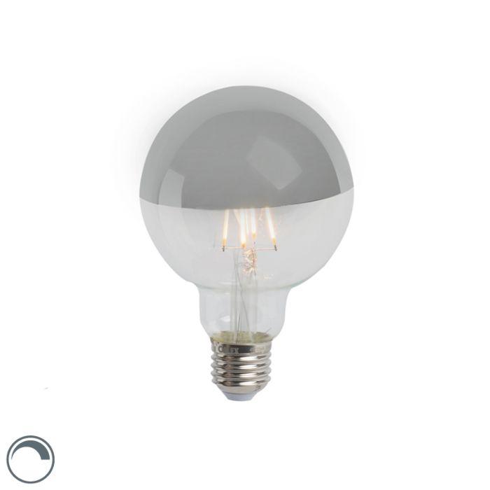 E27-dimmbare-LED-Filamentlampe-verspiegelt-G95-silber-280lm-2300K