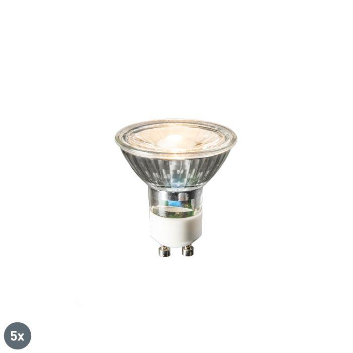 Set-mit-5-GU10-LED-Lampen-COB-3W-230lm-2700K
