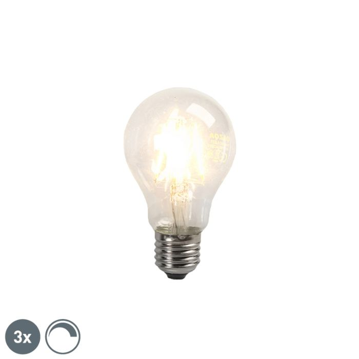3er-Set-LED-Glühbirne-E27-4W-390lm-dimmbar