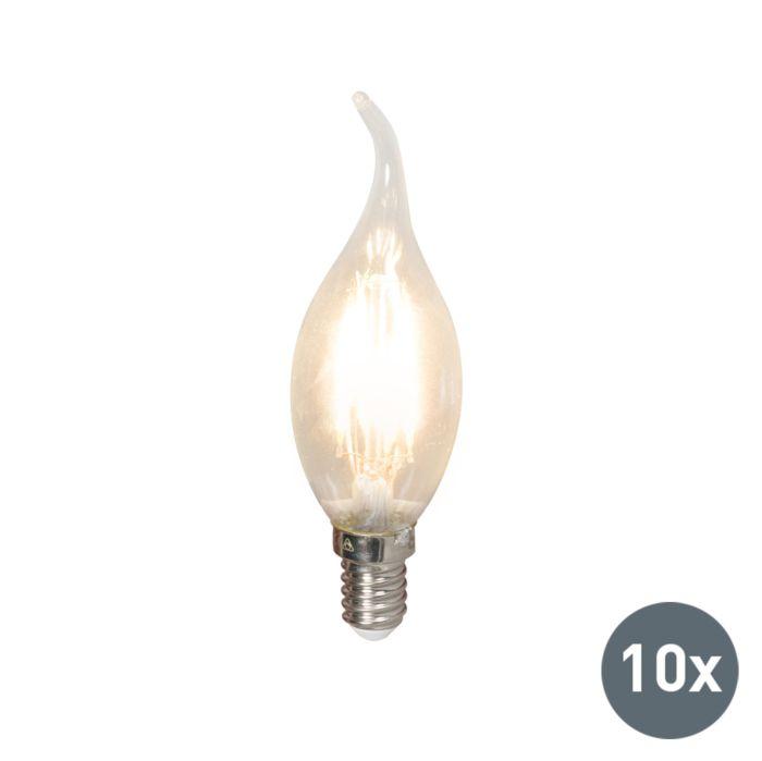 10er-Set-LED-Faden-Kerzenlampe-E14-3,5W-/-350lm-dimmbar