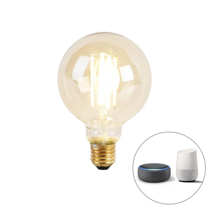 Smart-E27-dim-to-warm-LED-Glühbirne-G95-goldline-7W-806-lm-1800K---3000K