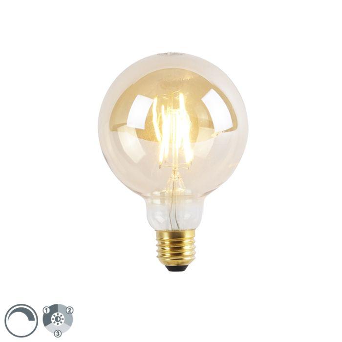 E27-3-stufige-dimmbare-LED-Lampe-G95-Goldline-5W-360lm-2200K