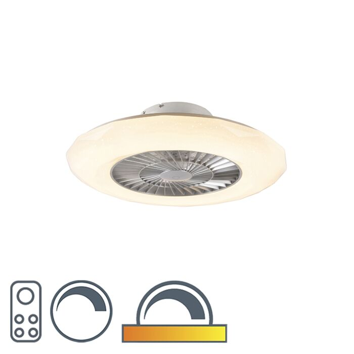 Deckenventilator-silber-inkl.-LED-mit-dimmbarem-Sterneffekt---Clima