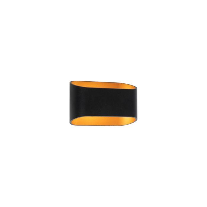 Design-Wandleuchte-schwarz-mit-Gold---Alone-R.