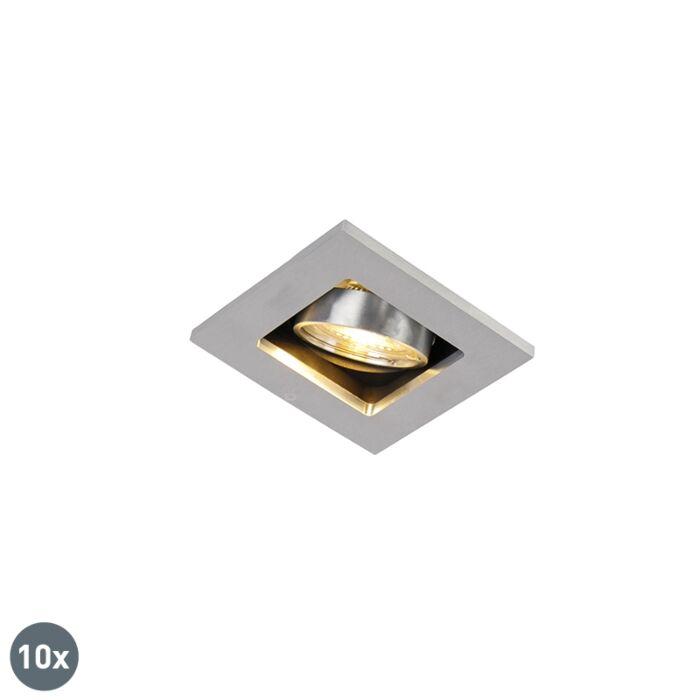 Set-mit-10-Einbaustrahlern-aus-Aluminium---Qure