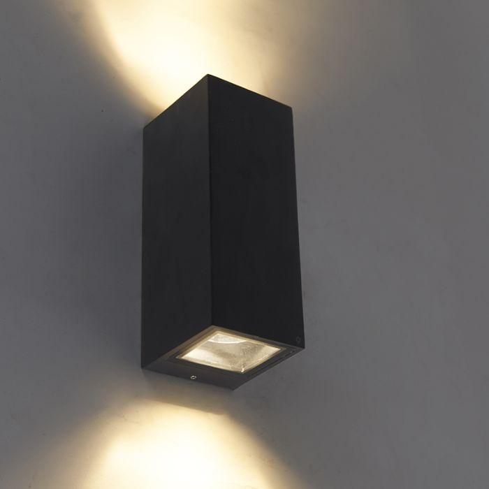 Moderne-Wandleuchte-schwarz-GU10-AR70-IP54---Baleno-II