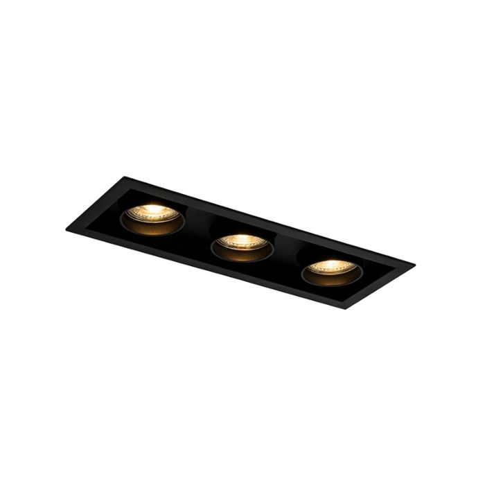 Moderne-Einbauleuchte-schwarz-verstellbar-3-Licht---Dach