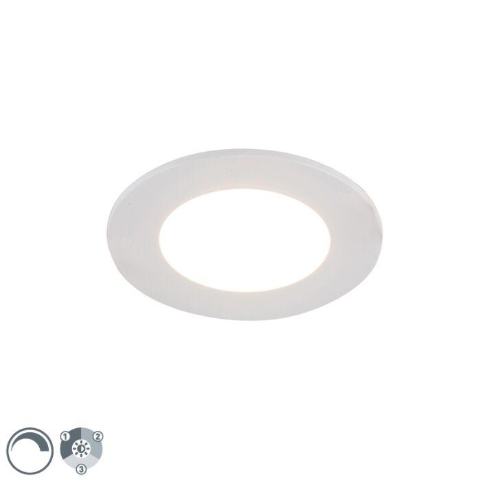 Weißer-Einbaustrahler-inkl.-LED-3-stufig-dimmbar-IP65---Blanca