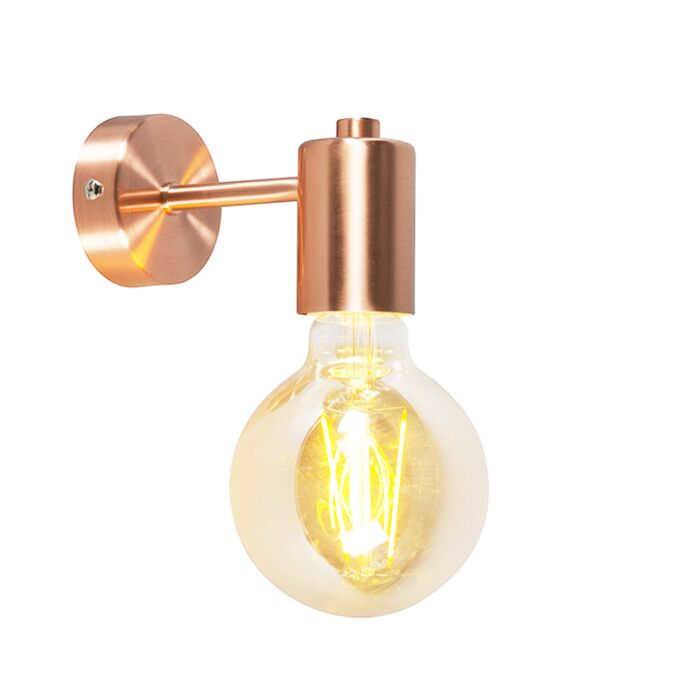 Smart-Art-Deco-Wandleuchte-Kupfer-inkl.-G95-WiFi-Lichtquelle---Facil