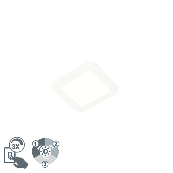 Deckenleuchte-weiß-17-cm-inkl.-LED-3-stufig-dimmbar-IP44---Steve