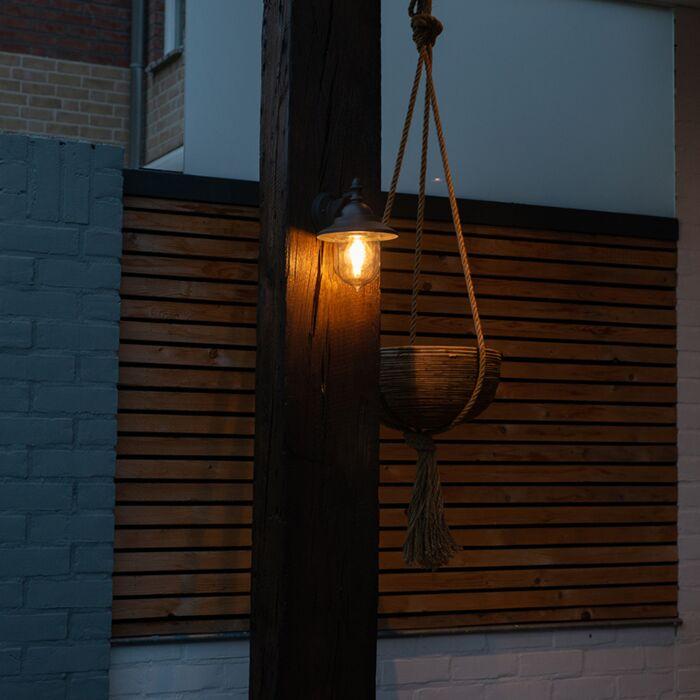 Romantische-Außenwandleuchte-dunkelgrau---Oxford