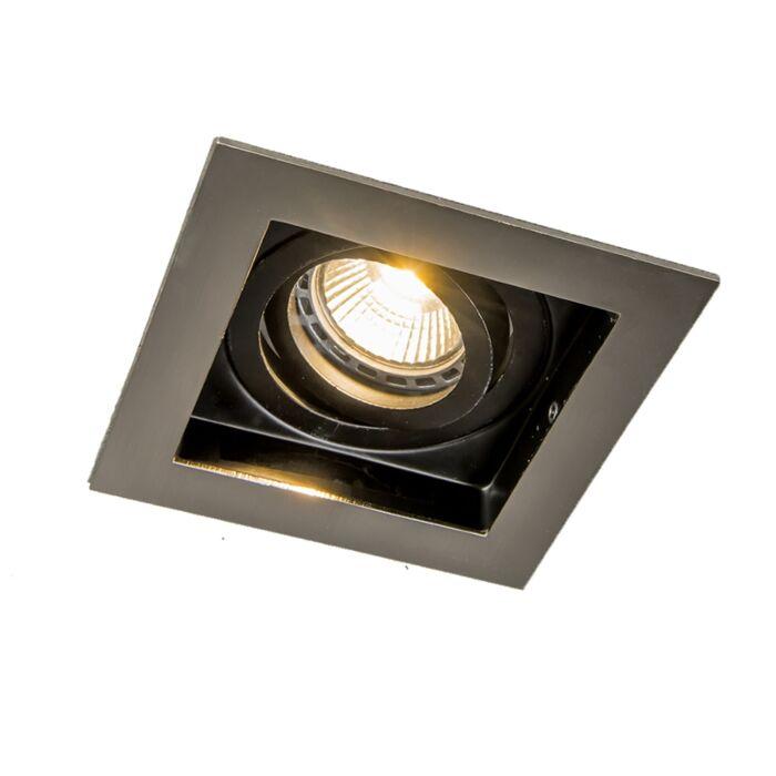 Einbaustrahler-Stahl-mit-schwarzem-Innengehäuse---Carree-1-