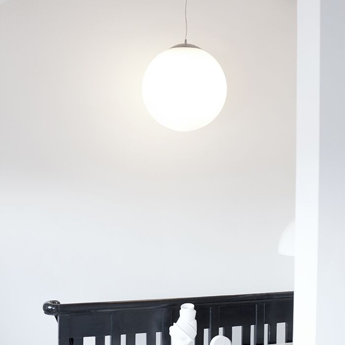 Skandinavische-Hängelampe-Opalglas-50cm---Ball-50