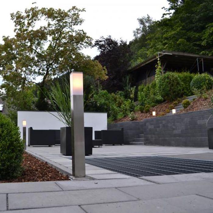 Moderne-Außenleuchte-80-cm-Stahl---Malios