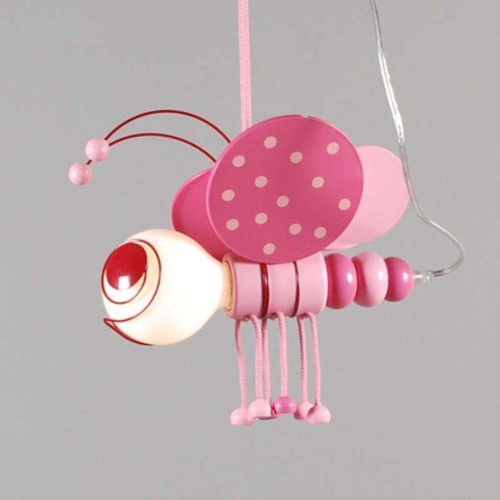 Pendelleuchte-Kids-Bee-Rosa