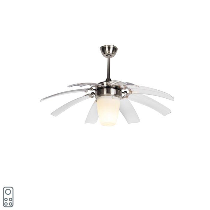 Deckenventilator-silber-mit-Fernbedienung---Wings-42-Stahl