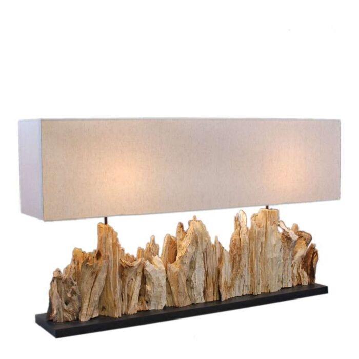 Tischleuchte-Thak-Extra-Grande-(115cm!!)-mit-Lampenschirm-aus-Leinen
