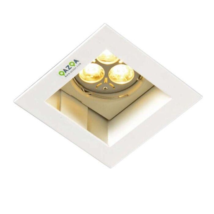Einbaustrahler-Diego-II-quadrat-weiß