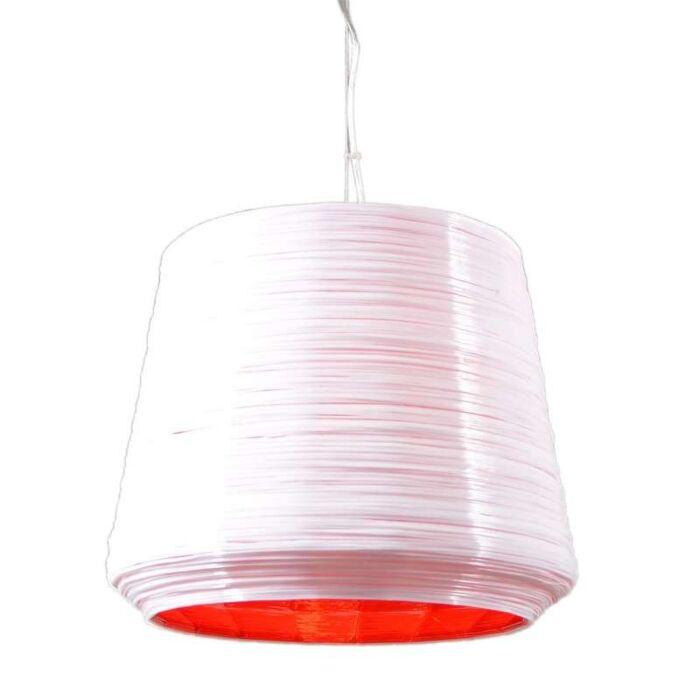 Pendelleuchte-Como-38-weiß/rot