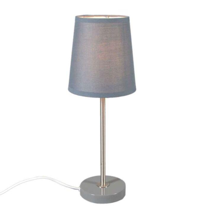 Tischleuchte-Notte-grau