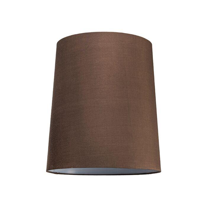 Lampenschirm-35cm-rund-SU-E27-braun
