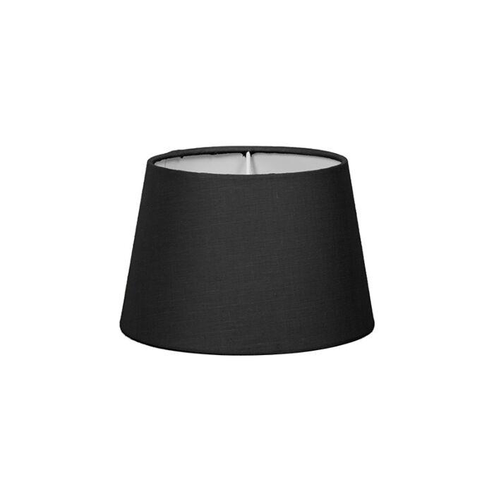 Lampenschirm-18cm-rund-SD-E27-schwarz