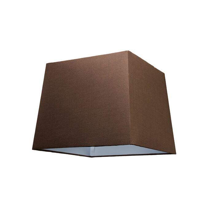 Lampenschirm-30cm-quadratisch-SU-E27-braun