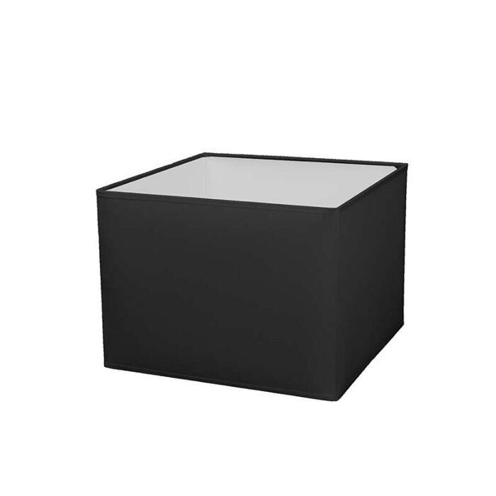 Lampenschirm-quadratisch-30/30/22-schwarz-E27