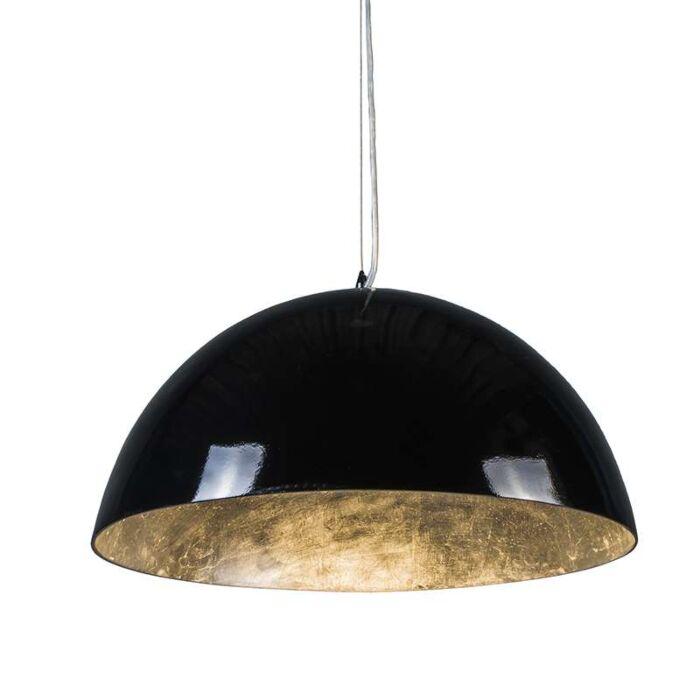 Pendelleuchte-Magna-hochglanz-55cm-schwarz-silber